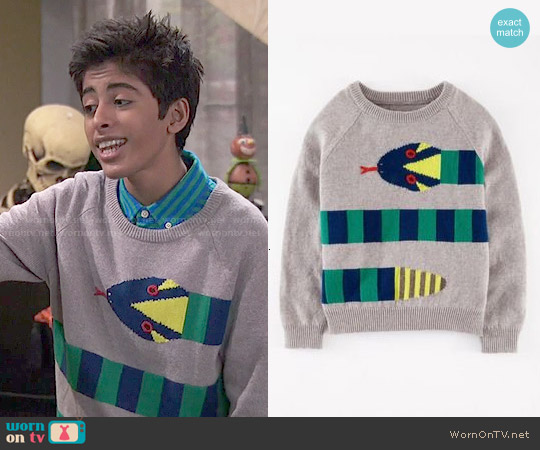 Boden Boy's Snake Pattern Sweater worn by Karan Brar on Jessie