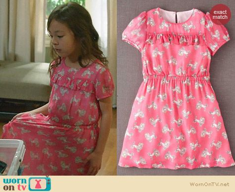 Boden Pink Poodle Dress worn by Aubrey Anderson-Emmons on Modern Family