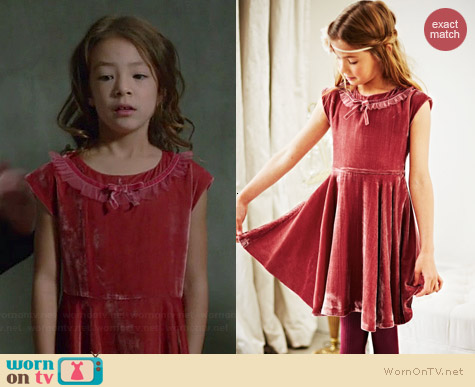 Boden Velvet Party Dress worn by Aubrey Anderson-Emmons on Modern Family