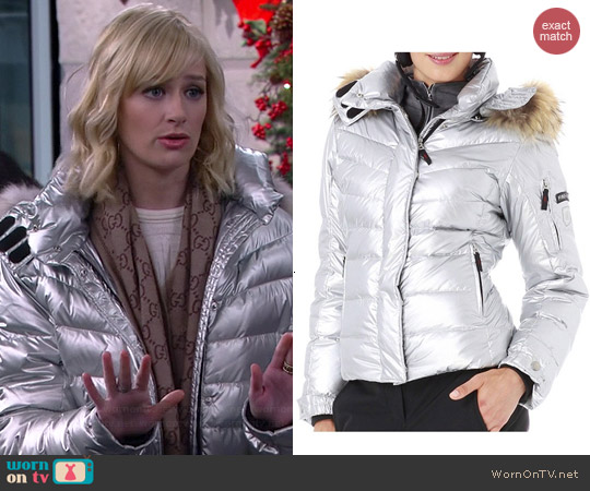 Bogner Fire & Ice DP Down Jacket with Fur worn by Beth Behrs on 2 Broke Girls