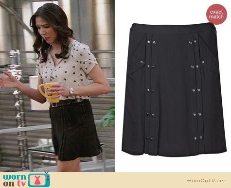 Fashion of Bones: ALC Cameron Skirt worn by Michaela Conlin