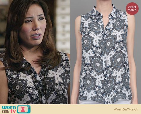 Bones Fashion: A.L.C Mackay top worn by Michaela Conlin