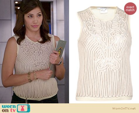 Bones Fashion: Carven Rope Tank worn by Michaela Conlin
