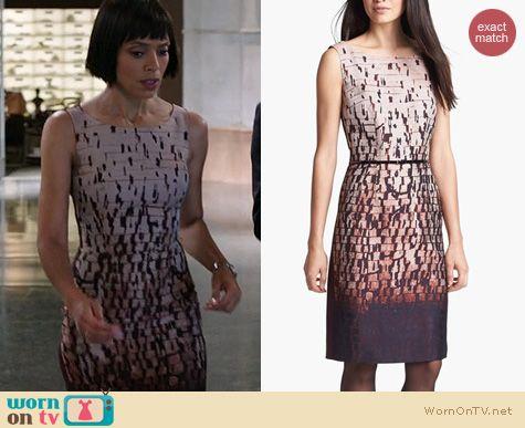 Bones Fashion: Hugo Boss Dinoma Dress worn by Tamara Taylor