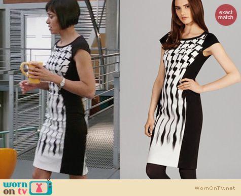 Bones Fashion: Karen Millen Jersey Signature Print Dress worn by Tamara Taylor