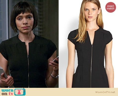 Bones Fashion: L'Agence Zip Front Dress worn by Tamara Taylor