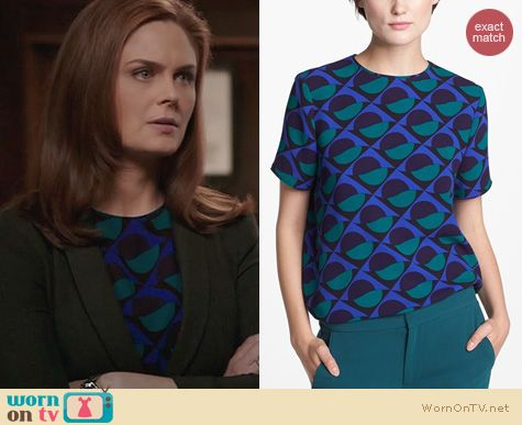 Bones Fashion: Marc by Marc Jacobs Etta Top worn by Emily Deschanel