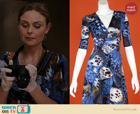 Fashion of Bones: Matrushka Cleopatra Butterfly Dress worn by Emily Deschanel