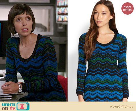 Bones Fashion: M Missoni ZigZag Dress worn by Tamara Taylor