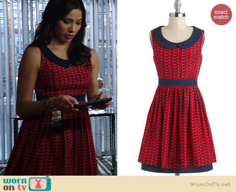 Bones Fashion: Modcloth Queen of Hearts dress worn by Michaela Conlin
