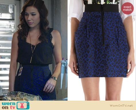 Fashion of Bones: 3.1 Phillip Lim Leopard Skirt worn by Michaela Conlin