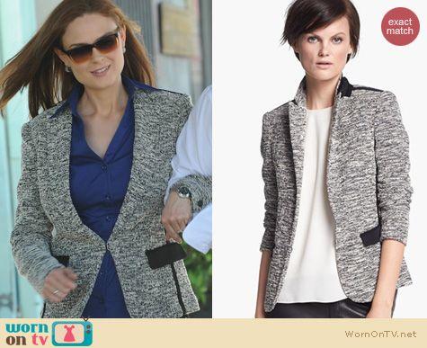 Bones Fashion: Rag & Bone Aviator Blazer worn by Emily Deschanel