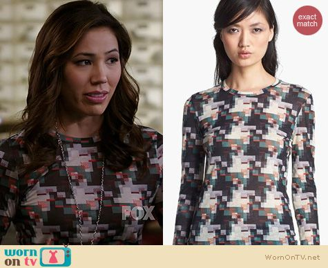 Bones Fashion: Rag & Bone Print Top worn by Michaela Conlin