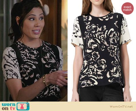 Fashion of Bones: Rebecca Taylor Artisinal Tee worn by Michaela Conlin