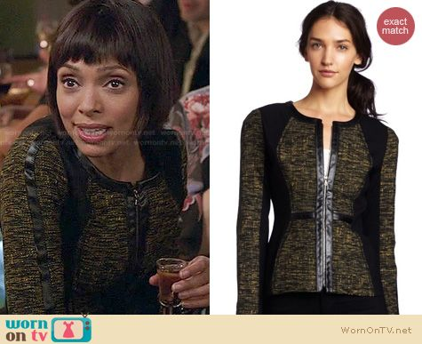 Bones Fashion: Yoana Baraschi Power Morph Tweed Jacket worn by Tamara Taylor