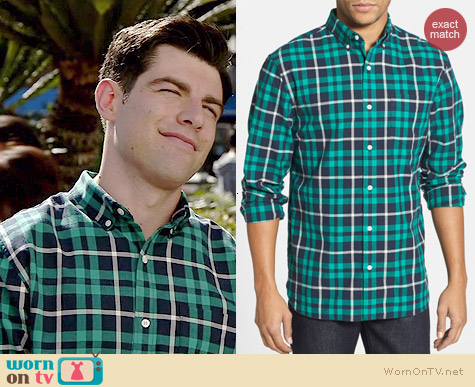 Bonobos Barrington Shirt worn by Max Greenfield on New Girl
