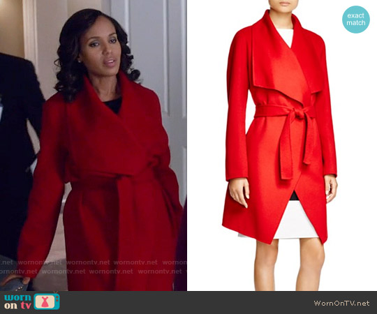 Boss Catifa Wool Cashmere Coat worn by Kerry Washington on Scandal