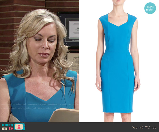 BOSS Delura Sheath Aqua worn by Eileen Davidson on The Young & the Restless