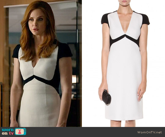 Bottega Veneta Colorblock Dress worn by Sarah Rafferty on Suits