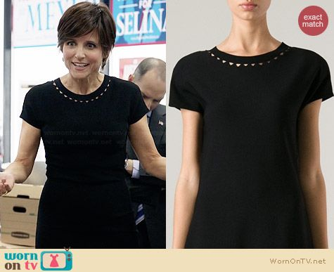 Bottega Veneta Diamond Cutout Collar Dress worn by Julia Louis Dreyfus on Veep
