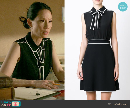 Boutique Moschino Bow Detail Dress worn by Lucy Liu on Elementary