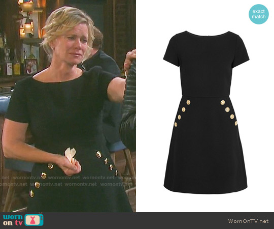 Boutique Moschino Button Trim Dress worn by Mary Beth Evans on Days of our Lives