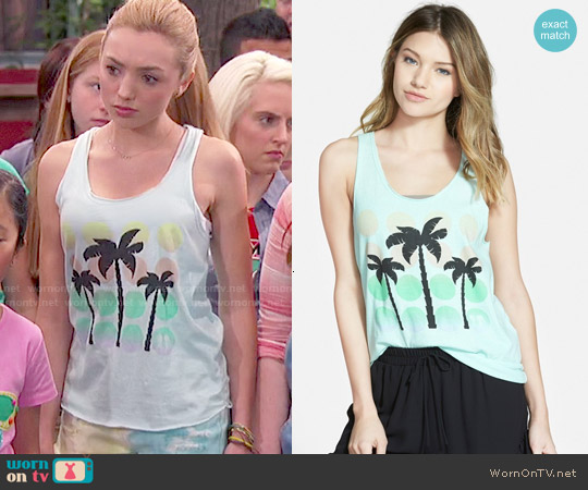 Boy Meets Girl Racerback Tank worn by Peyton List on Bunkd