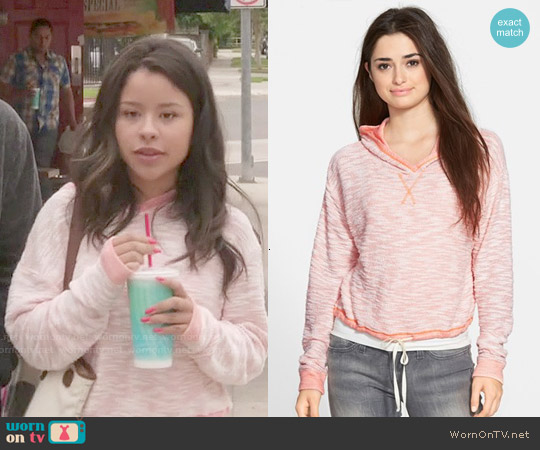 BP Crop Knit Hoodie worn by Cierra Ramirez on The Fosters