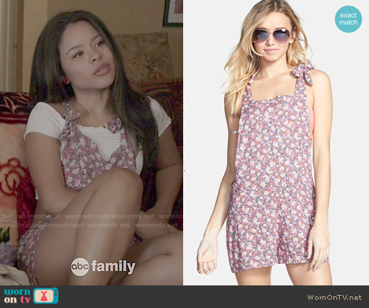 BP Floral Print Short Overalls worn by Cierra Ramirez on The Fosters