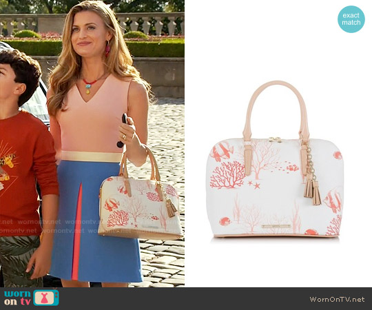 Brahmin Vivian Reef Dome Satchel worn by Paige Collins on Royal Pains