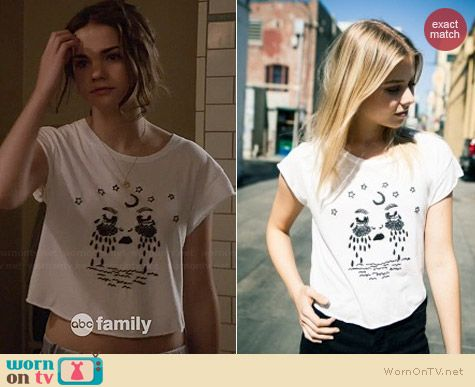 Brandy Melville Elin Moon Tears Top by Brain Foetus worn by Maia Mitchell on The Fosters