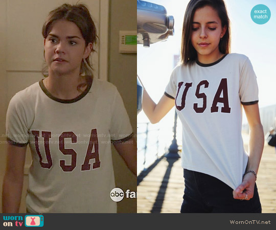 Brandy Melville Nadine USA Top worn by Maia Mitchell on The Fosters