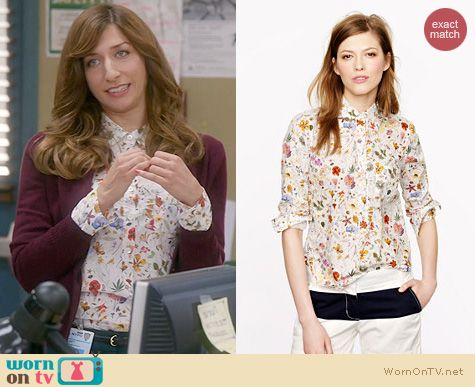 Brooklyn 99 Fashion: J. Crew Liberty Popover in Floral Eve worn by Chelsea Peretti