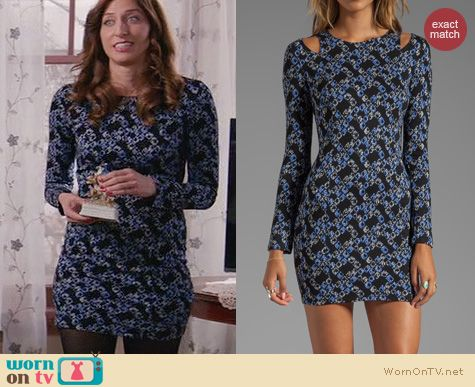 Brooklyn 99 Fashion: Lucca couture long sleeve dress worn by Chelsea Peretti