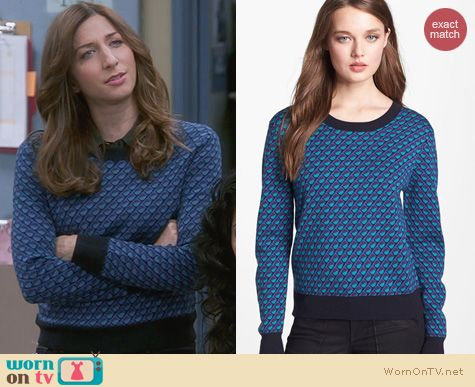 Brooklyn 99 Fashion: Marc by Marc Jacobs Luna Jacquard Sweater worn by Chelsea Peretti