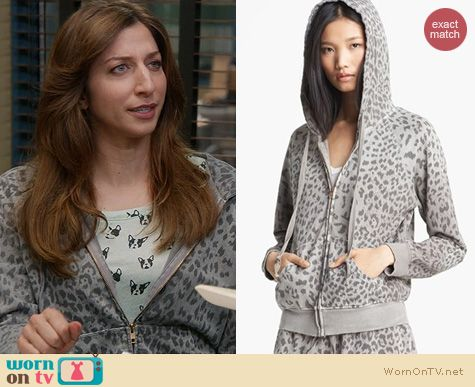 Brooklyn 99 Style: Current/Elliot Animal print hoodie worn by Chelsea Peretti