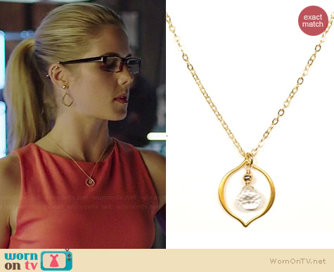 Brooklyn Designs Jorja Necklace worn by Emily Bett Rickards on Arrow