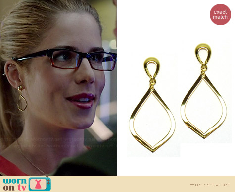 Brooklyn Designs Katia Earrings worn by Emily Bett Rickards on Arrow