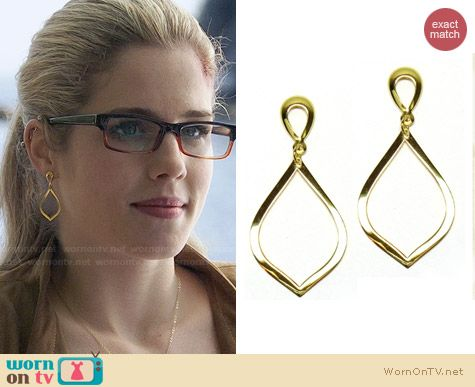 Brooklyn Designs Katia Earrings worn by Felicity Smoak on Arrow