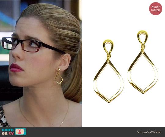 Brooklyn Designs Katia Earrings worn by Felicity Smoak on Arrow