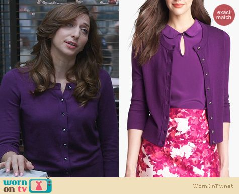 Brooklyn 99 Fashion: Kate Spade Kati Cardigan worn by Chelsea Peretti