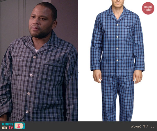 Brooks Brothers Buffalo Check Pajamas worn by Anthony Anderson on Blackish