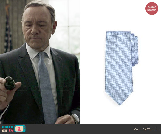 Brooks Brothers Houndstooth Tie worn by Kevin Spacey on House of Cards