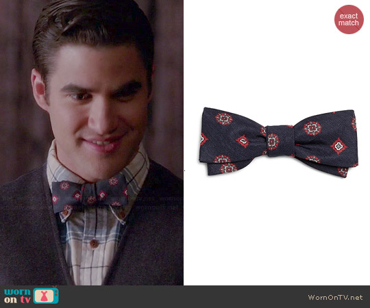 Brooks Brothers Navy Foulard Bow Tie worn by Darren Criss on Glee