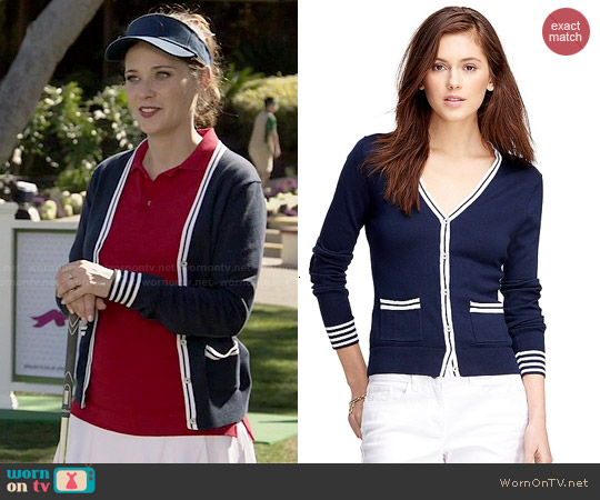 Brooks Brothers Supima Cotton Cardigan worn by Zooey Deschanel on New Girl