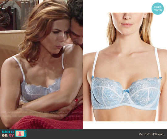 b.tempt'd by Wacoal Sultry Balconette Bra in Bridal White worn by Gina Tognoni on The Young & the Restless