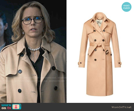 Burberry Long Double Cashmere Trench Coat worn by Téa Leoni on Madam Secretary