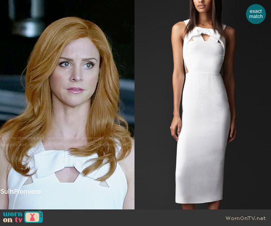 Burberry Bow Front Cutout Dress worn by Sarah Rafferty on Suits