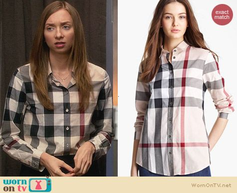 Burberry Brit Check Woven Shirt worn by Lauren Lapkus on House of Lies
