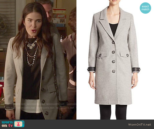 Burberry Brit Steadleigh Wool and Cashmere Coat worn by Karla Souza on HTGAWM